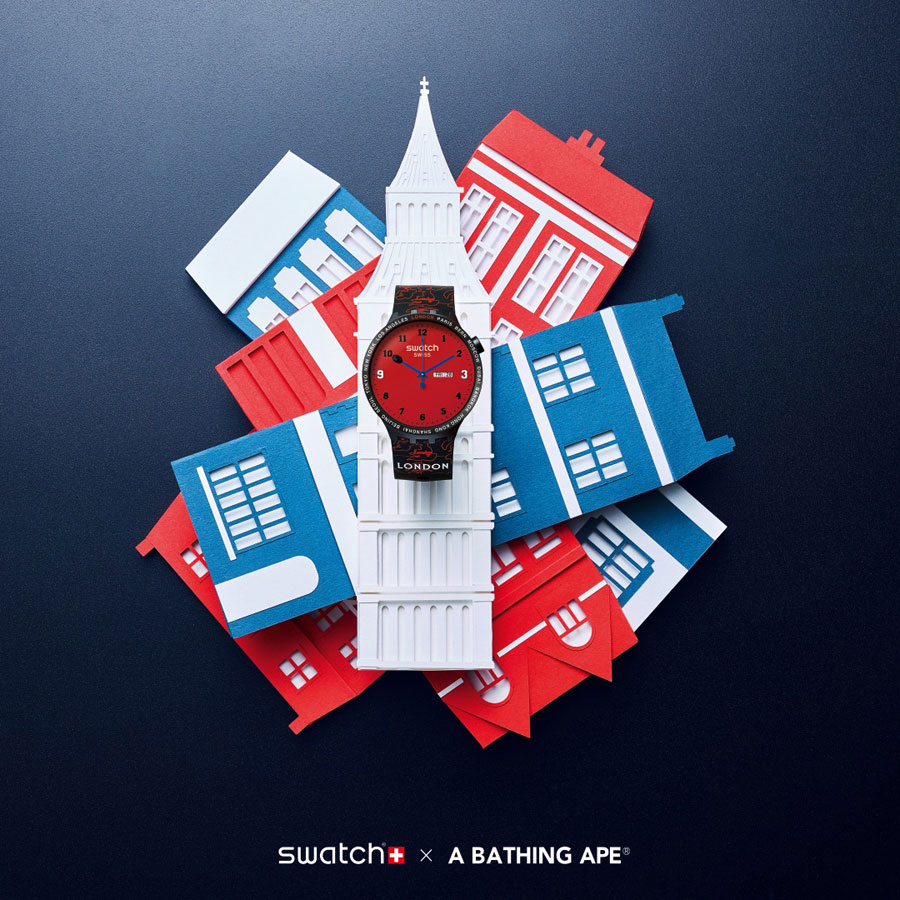 BAPE x Swatch BIG BOLD Collection - London