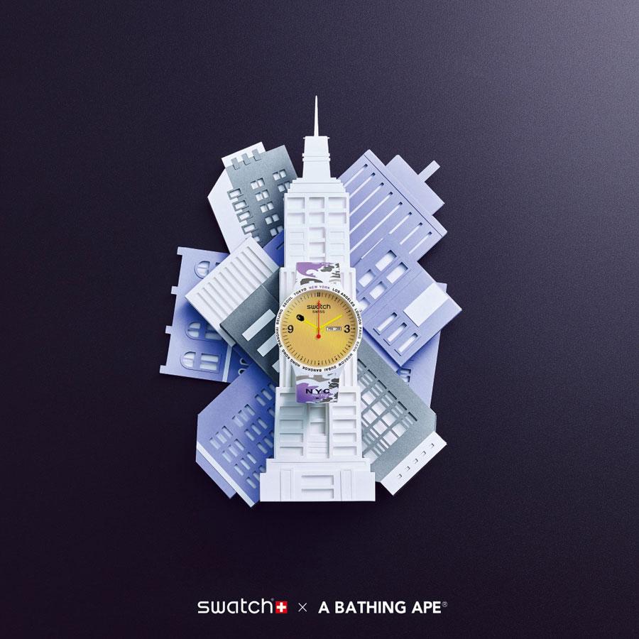 BAPE x Swatch BIG BOLD Collection - New York City