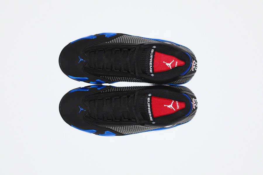 Supreme x Nike Air Jordan 14 - Black Blue (Top)