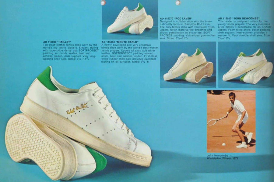 White Leather Sneakers - adidas Robert Haillet