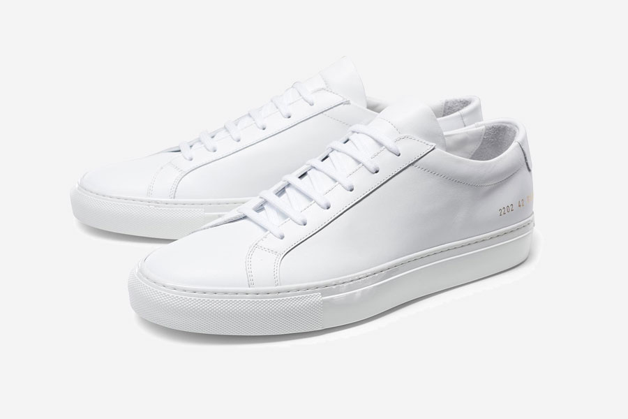 White Leather Sneakers - Common Projects Achilles Low