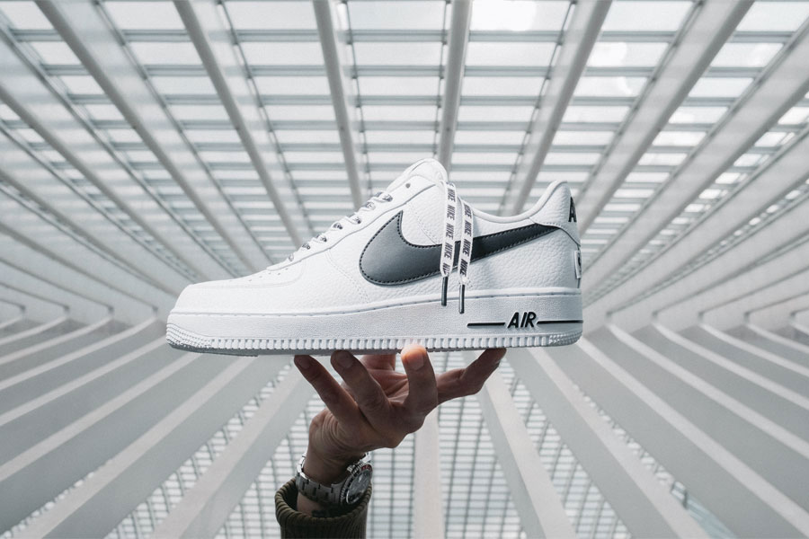 White Leather Sneakers - Nike Air Force 1 Low