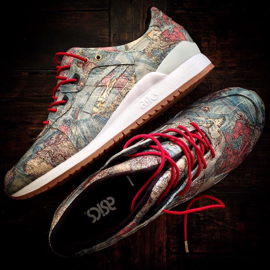 Sneaker Customs Release Officially - ASICS GEL-LYTE III World Map (by Certified Custom Lifestyle)