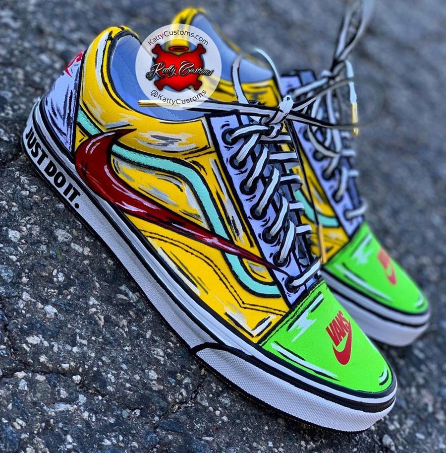 Sneaker Customs Release Officially - Nike x VANS Old Skool (by Katty Customs)