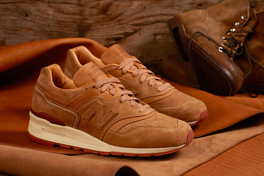 new balance red leather
