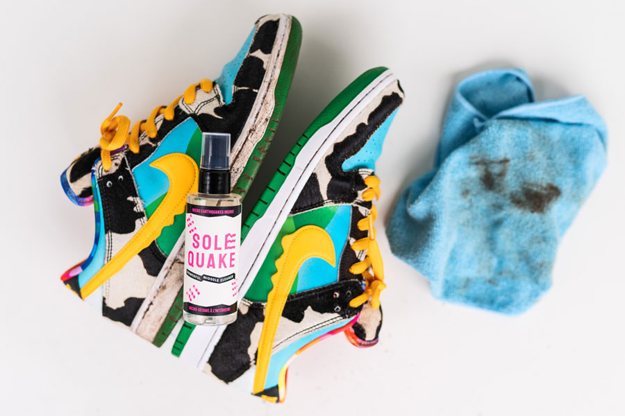 Get Your Sneakers Clean With Micro Earthquakes